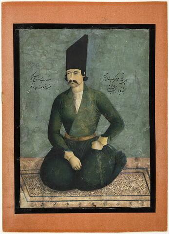 Portrait de Mirza Riza Quli Khan Zand à l'âge de 25 ans