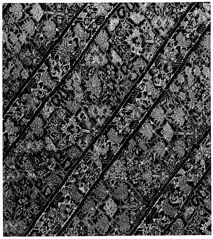 Morceau de pantalon de femme (shalvar) à rayures