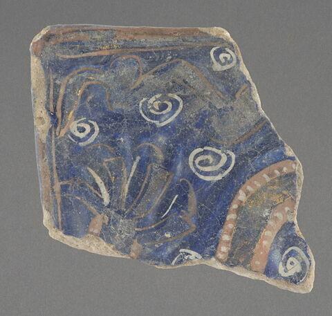Fragment de carreau type ladjvardina = angle inférieur droit