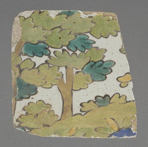 Frise fragmentaire à décor de paysage