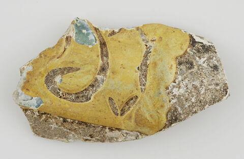 Fragment de paroi polychrome