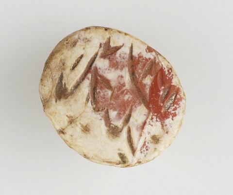 Amulette gravée de deux lignes de nasta'liq