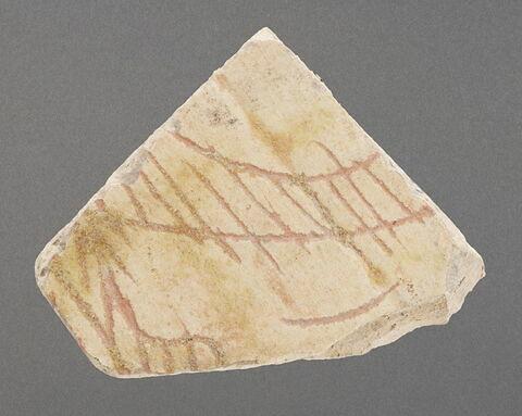 Fragment de bord de coupe à décor d'écailles
