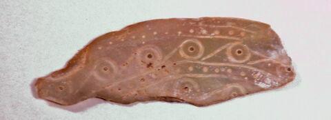 Fragment de nacre à décor d'ocelles