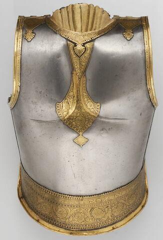 Plate dorsale d'un corselet d'armure (kavacha)