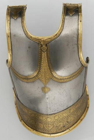 Plate frontale d'un corselet d'armure (kavacha)