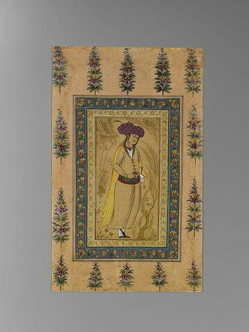 Echanson au turban lilas (page d'album)