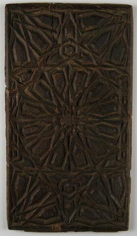 Panneau à décor géométrique et d'étoiles