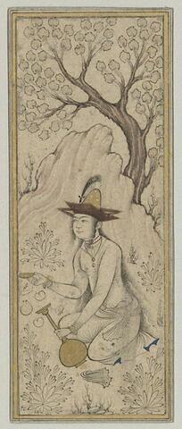 Jeune fille tendant une coupe