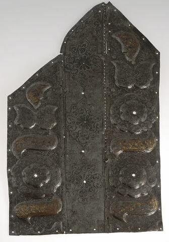 Panneau de barde équestre constitué de plaques rivetées ensemble
