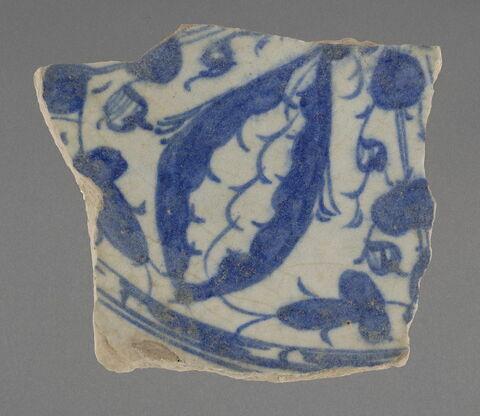 Fragment de base de plat au pétale