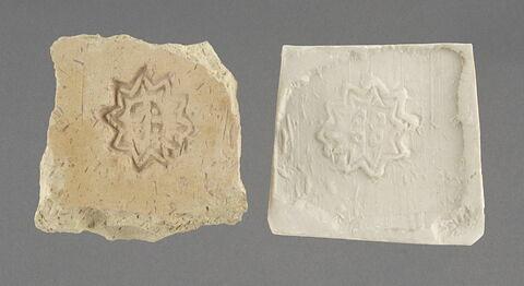 Fragment de moule : motif d'étoile