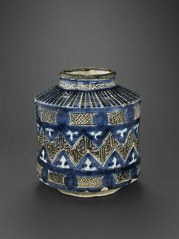 Vase à décor de frise en zigzag