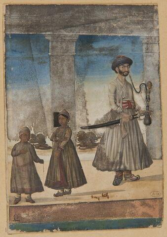 Portrait de sikh et deux enfants