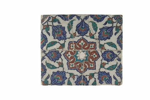 Panneau à motif central étoilé formé de fleurons