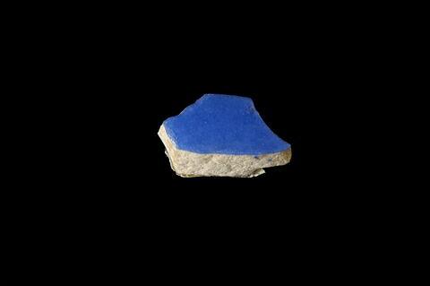 Fragment de vase bleu ciel