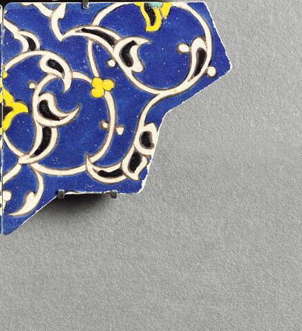 Quart d'étoile à décor de demi palmettes stylisées de type dit rumi