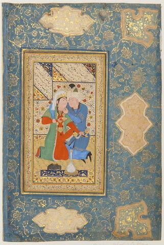 Couple d'amoureux (page d'album)