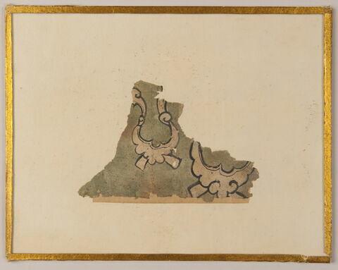 fragment de peinture : ornement, nuages tchi