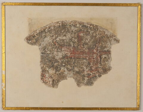 Fragment de peinture : quadrupède