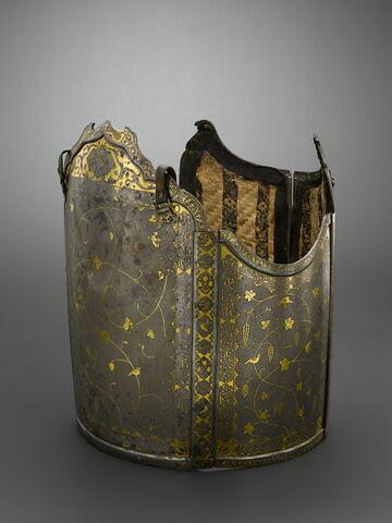 Armure (chahar ayna), composée de quatre plaques rectangulaires