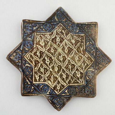 Carreau en forme d'étoile à motif de réseau