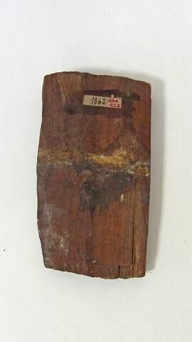 plaque ; tenon  ; élément de cercueil