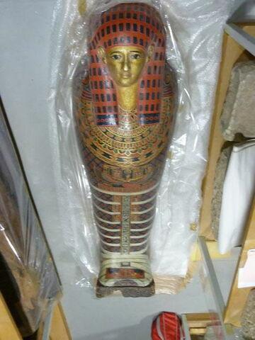 cercueil momiforme ; couvercle de cercueil