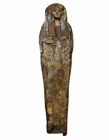 couvercle de cercueil ; cercueil anthropoïde