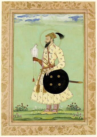 Portrait du prince Muazzam, Shah Alam