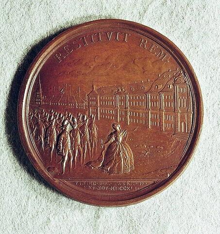 Médaille : Accession au pouvoir d'Elisabeth Ière, 1741.