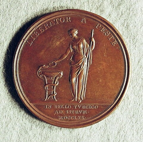 Médaille : Médecin en chef, baron Asch, 1770.