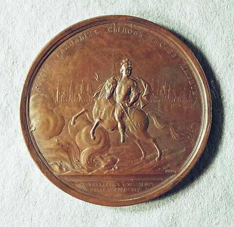 Médaille : Action du comte Orlov lors de l'épidémie de peste à Moscou, 1771.
