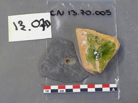 carreau, fragment ; plaque