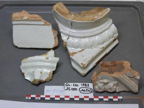 élément de construction, fragment ; élément décoratif, fragment