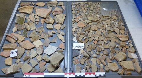 élément de construction, fragment ; clou, fragment ; objet indéterminé, fragment