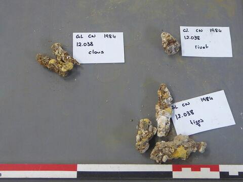 tige fragment ; clou, fragment ; rivet, fragment