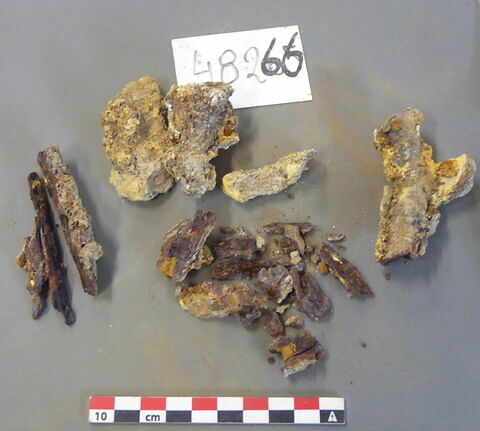 clou, fragment ; penture, fragment
