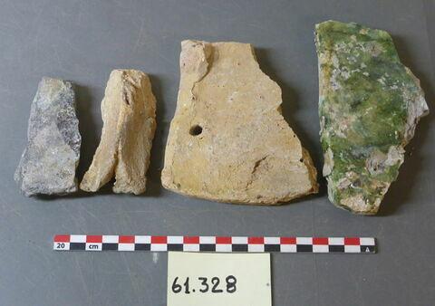 élément de construction, fragment ; tuile, fragment
