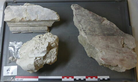 élément mouluré, fragment ; élément décoratif, fragment