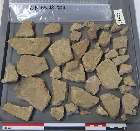 brique, fragment ; tuile, fragment