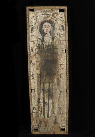 cercueil rectangulaire à poteaux d'angle ; plancher de cercueil