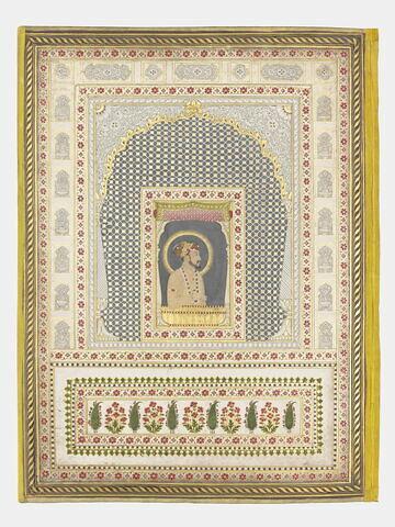Portrait de Shah Jahan (page d'album)