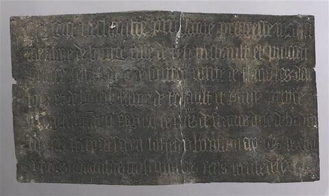 Inscription funéraire d'Anne de Bourgogne († 1432), fille de Jean sans Peur, duchesse de Bedford