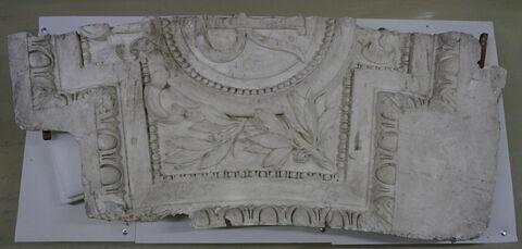 panneau, fragment ; bas-relief