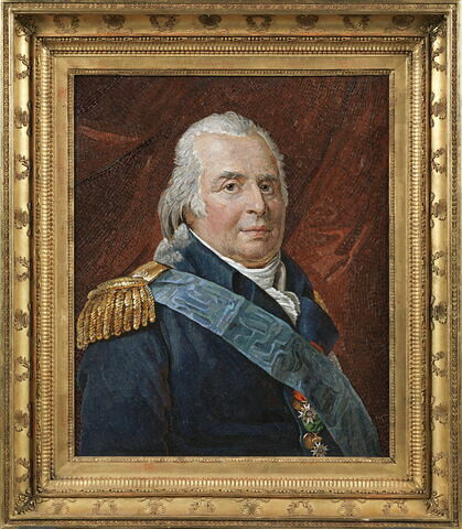 Mosaïque encadrée : portrait de Louis XVIII