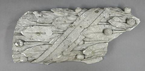 baguette, fragment ; bas-relief
