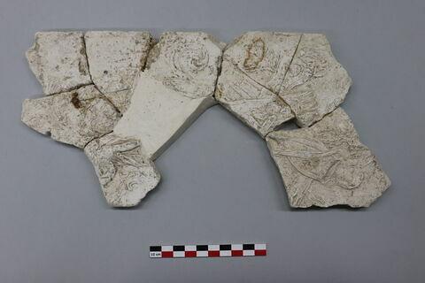 bas-relief, fragment ; plaque, fragment