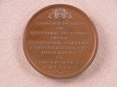 Pose de la première pierre de la statue de Louis XV