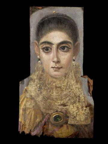 portrait de momie ; L'Européenne